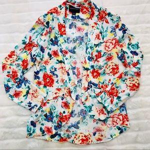 MINKPINK lightweight floral blazer